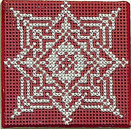 click here to view larger image of Lace Snowflake Cross Stitch with Ort Box (chart with charms/buttons)
