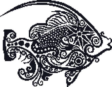 click here to view larger image of Fanciful Fish (chart)