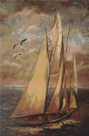 click here to view larger image of Sailboat Painting (chart)