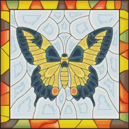 click here to view larger image of Butterfly Stained Glass (chart)