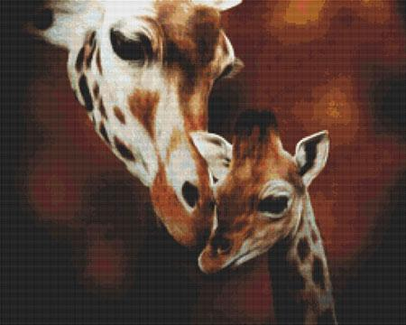 click here to view larger image of Baby and Mother Giraffe (chart)