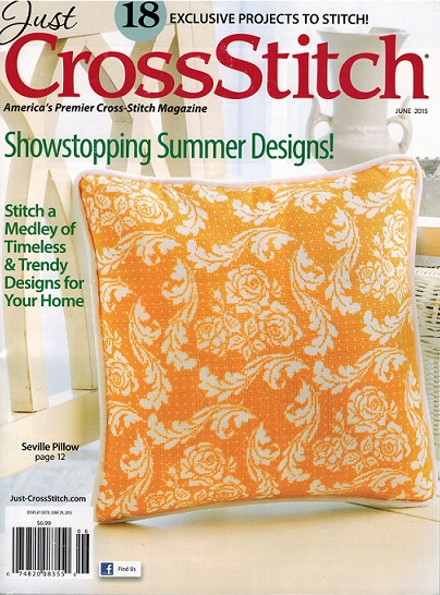 click here to view larger image of Just Cross Stitch - June 2015 (magazines)