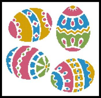 click here to view larger image of Four Easter Eggs  (Joni Prittie) (chart)