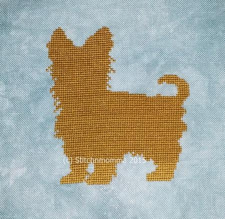 click here to view larger image of Dog Silhouette - Yorkshire Terrier - Yorkie (chart)