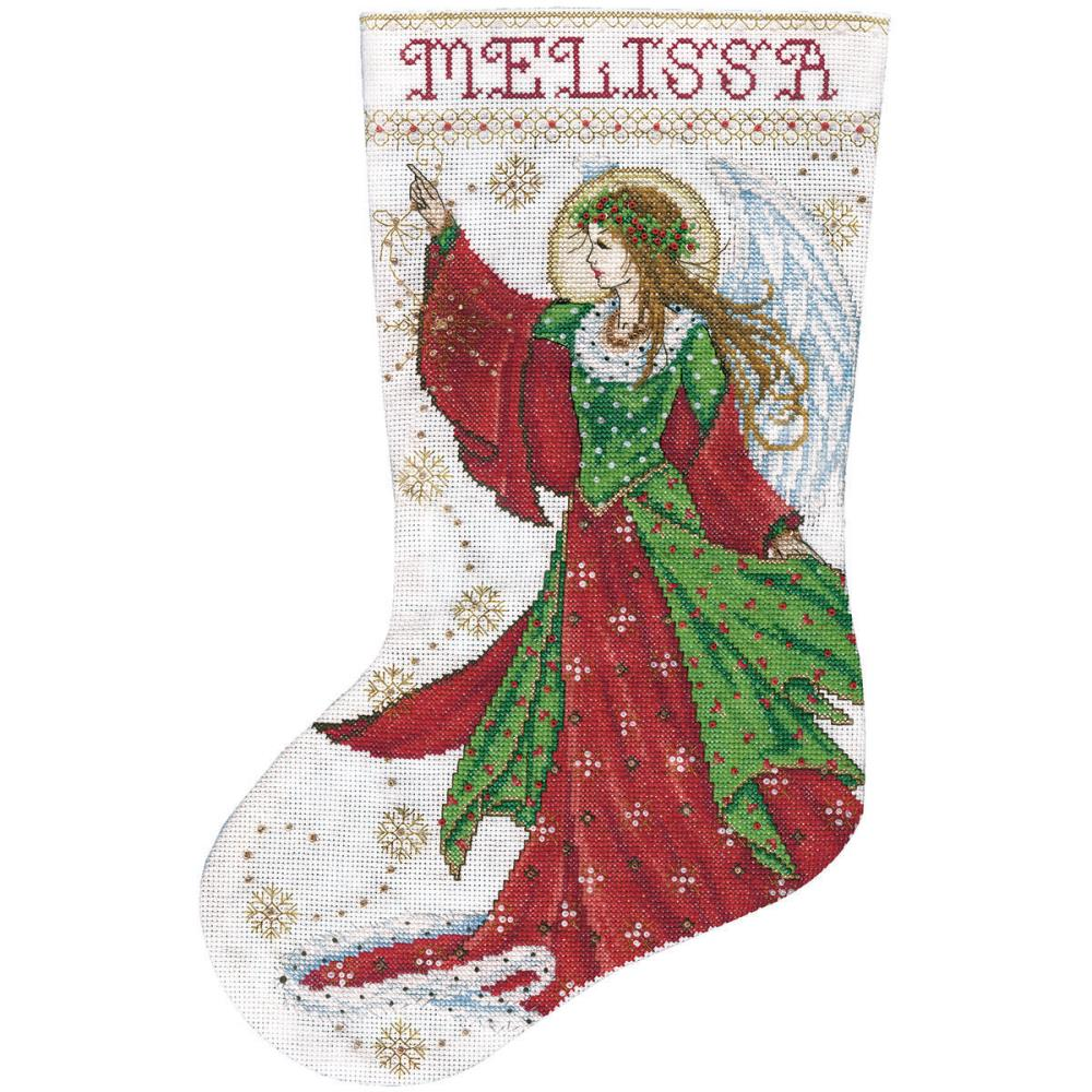 click here to view larger image of Angel of Joy Stocking (counted cross stitch kit)
