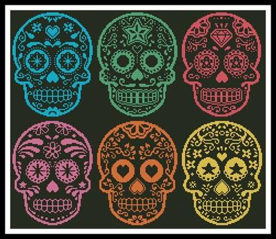 click here to view larger image of Mexican Sugar Skulls (chart)