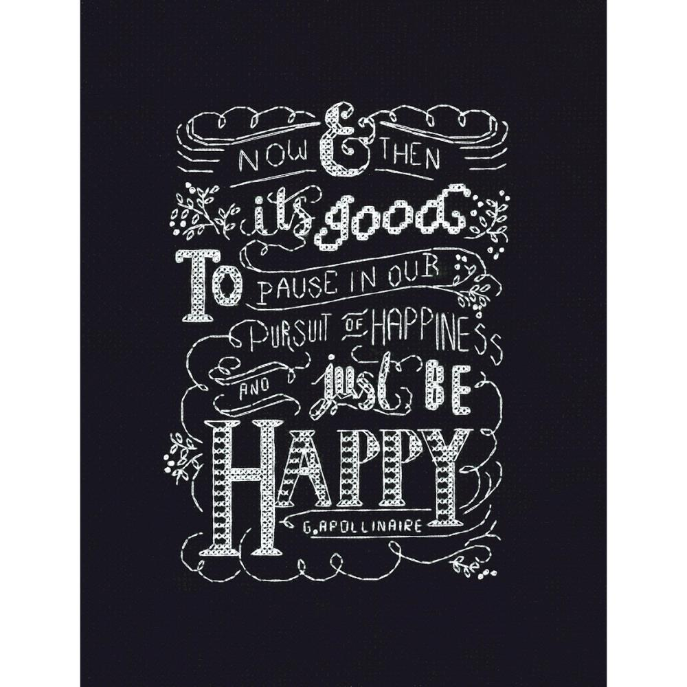 click here to view larger image of Just Be Happy (counted cross stitch kit)
