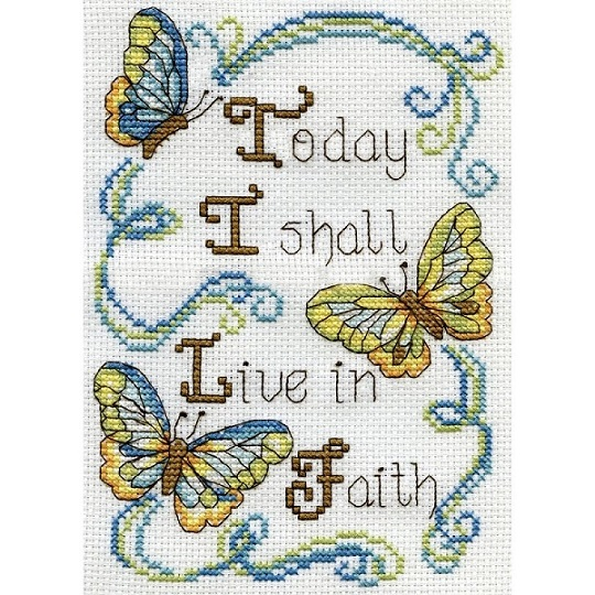 click here to view larger image of Live In Faith (counted cross stitch kit)