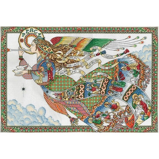 click here to view larger image of Peace Angel (counted cross stitch kit)