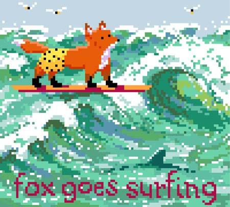 click here to view larger image of Fox Goes Surfing (chart)