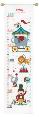 click here to view larger image of Circus Height Chart (counted cross stitch kit)