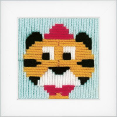 click here to view larger image of Circus Tiger Long Stitch (needlepoint)