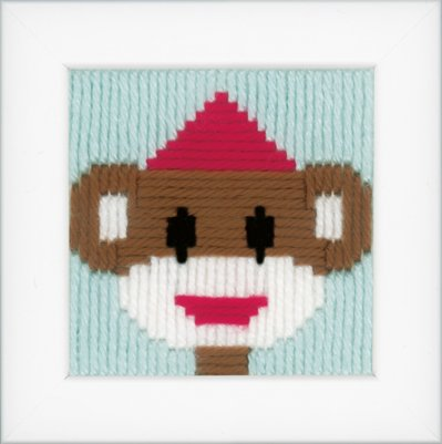click here to view larger image of Circus Monkey Long Stitch (needlepoint)