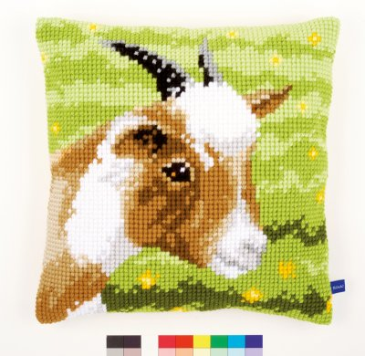 click here to view larger image of Goat Cushion (needlepoint)