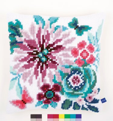 click here to view larger image of Flower Paradise II Cushion (needlepoint)