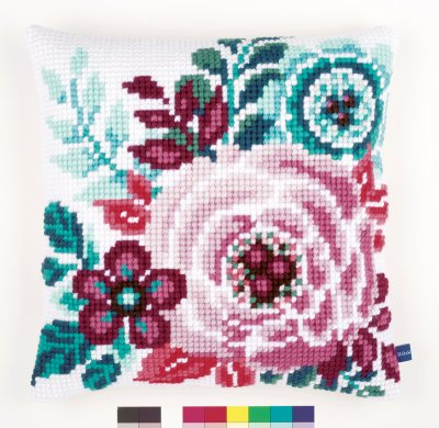 click here to view larger image of Flower Paradise I Cushion (needlepoint)
