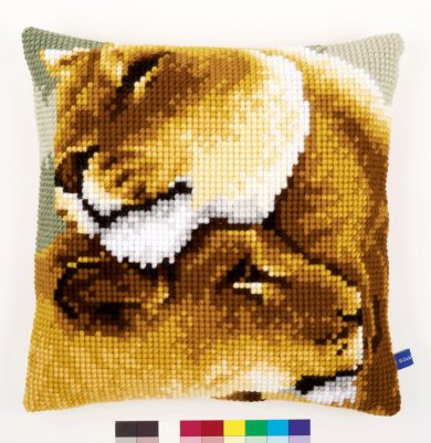 click here to view larger image of Lion Friendship 1 Cushion (needlepoint)