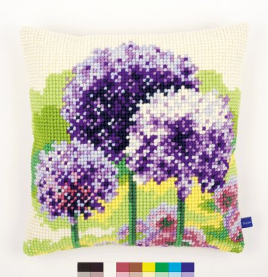 click here to view larger image of Allium Cushion (needlepoint)