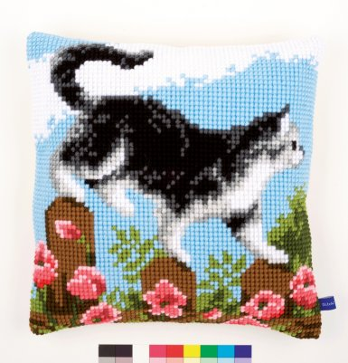 click here to view larger image of Exploring the Garden II Cushion (needlepoint)
