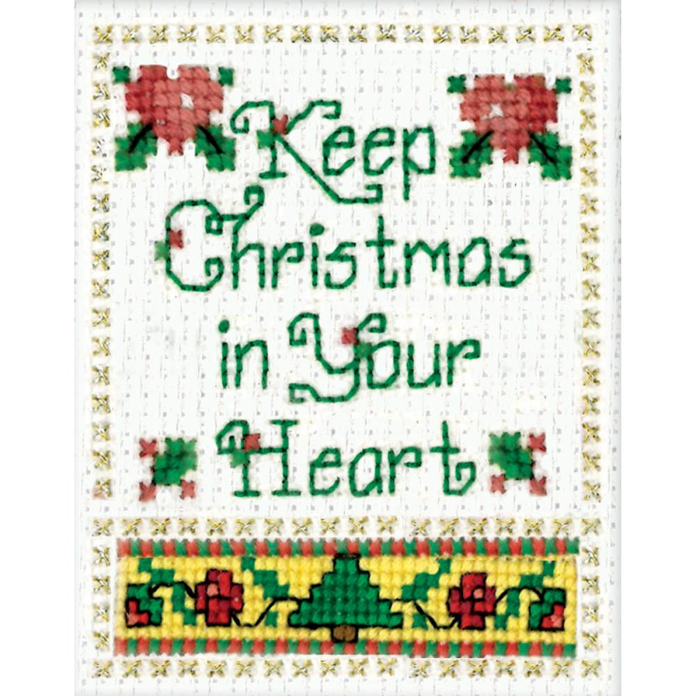 click here to view larger image of Christmas In Your Heart Ornament (counted cross stitch kit)