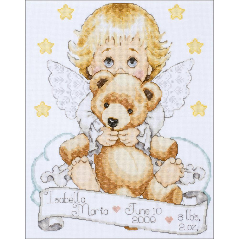 click here to view larger image of Angel Birth Record (counted cross stitch kit)