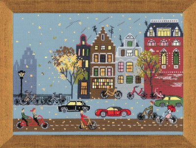 click here to view larger image of Cycle Lane (counted cross stitch kit)