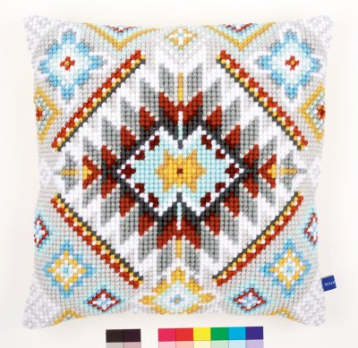 click here to view larger image of Ethnical I Cushion (needlepoint)