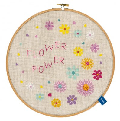 click here to view larger image of Flower Power (counted cross stitch kit)