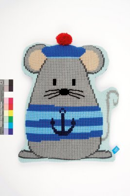 click here to view larger image of Sailor Mouse - Shaped Cushion (needlepoint)