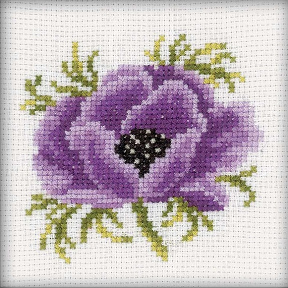 click here to view larger image of Anemone (counted cross stitch kit)
