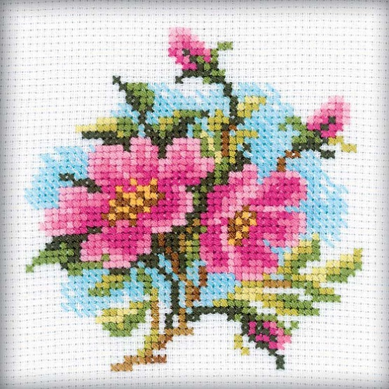 click here to view larger image of Dog Rose (counted cross stitch kit)