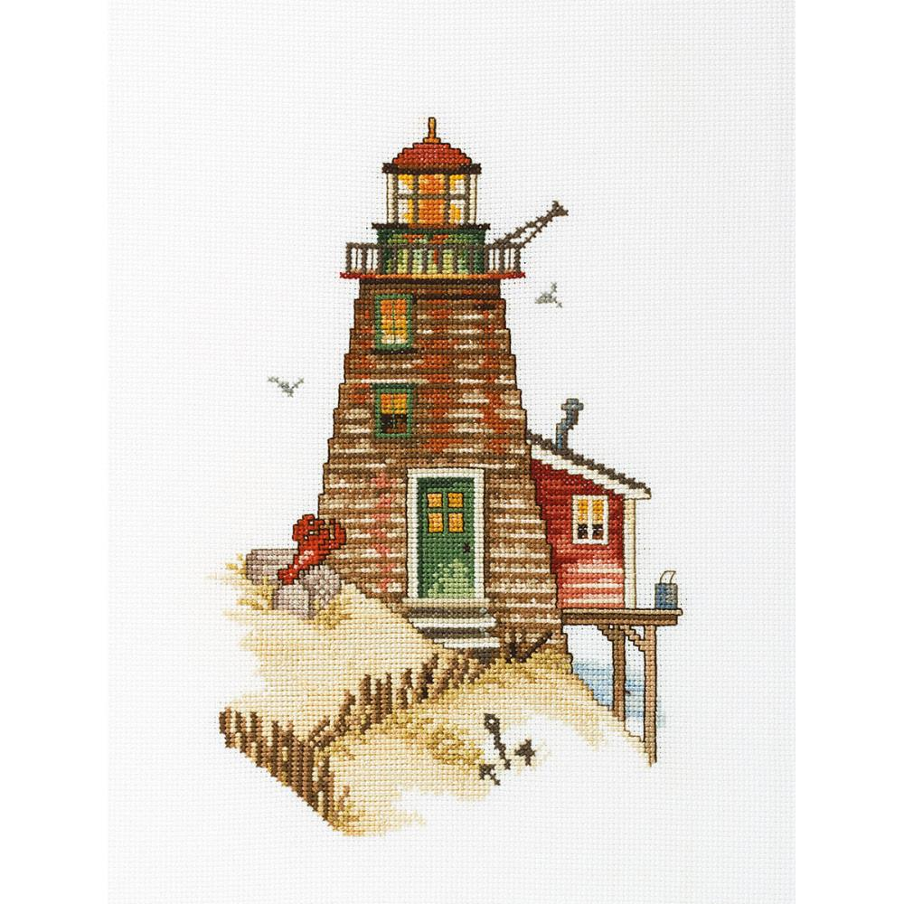 click here to view larger image of Crab Lighthouse (counted cross stitch kit)