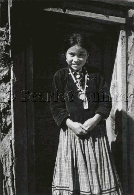 click here to view larger image of Navaho Girl, Canyon de Chelly, Arizona (chart)