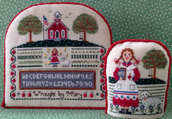 click here to view larger image of Marys Schoolgirl Sampler (chart)