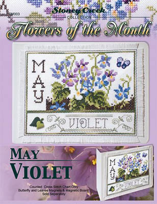 click here to view larger image of Flowers of the Month - May Violet (chart)