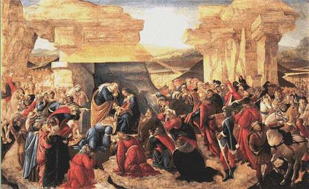 click here to view larger image of Adoration of the Magi - Botticelli (chart)
