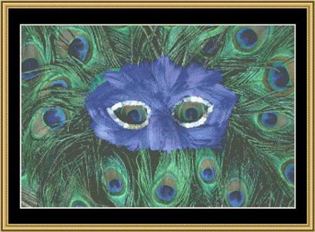 click here to view larger image of Mardi Gras Collection - Peacock Mask (chart)