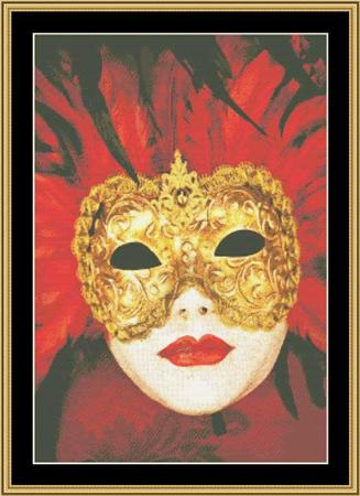 click here to view larger image of Mardi Gras Collection - Masks of Mardi Gras 2 (chart)