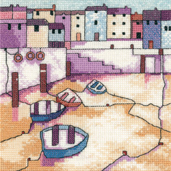 click here to view larger image of Morning Calm - Painted Harbors (27ct) (counted cross stitch kit)