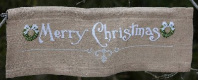 click here to view larger image of Christmas Banner (stamped cross stitch kit)