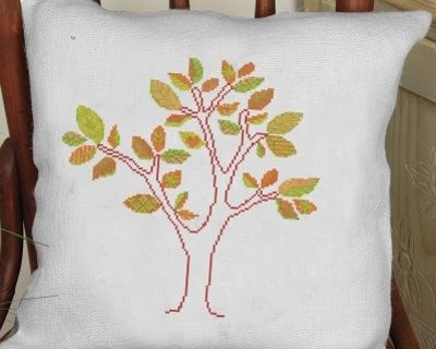 click here to view larger image of Autumn - Pillow Cover (counted cross stitch kit)