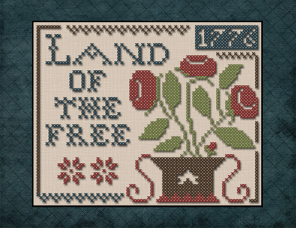click here to view larger image of Land of the Free (chart with charms/buttons)