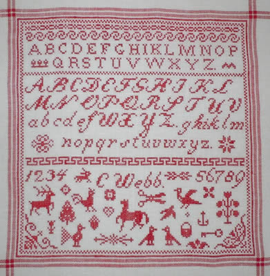 click here to view larger image of Aunt Helens Sampler (chart)
