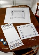 click here to view larger image of Hardanger Table Runner (lower left) (Hardanger and Cut Work)