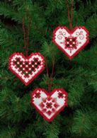 click here to view larger image of Hardanger Heart Ornament - Set of 3 Assorted (Hardanger and Cut Work)