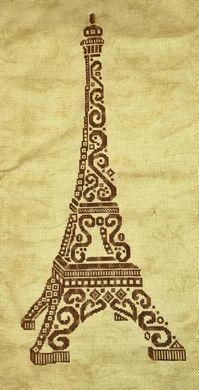click here to view larger image of Tribal Eiffel Tower (chart)