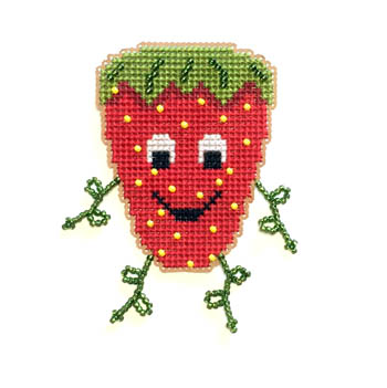 click here to view larger image of Strawberry Buddy Kit (counted cross stitch kit)