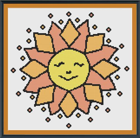 click here to view larger image of Ditsy Sun (chart)