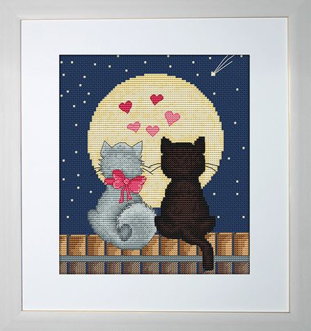 click here to view larger image of Kiti and Tom (counted cross stitch kit)