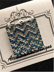 click here to view larger image of Monster Turquoise Chevron Magnet (accessory)